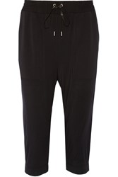 Helmut Lang Cropped Stretch Micro Modal Tapered Pants Black