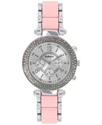 Style And Co. Women's Blush And Silver Tone Bracelet Watch 39Mm 10023434