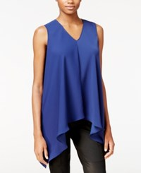 Rachel Roy Sleeveless Asymmetrical Top Only At Macy's Dark Lapis