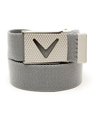 Callaway Solid Webbed Belt Grey