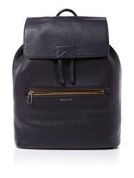 Paul Smith Leather Structured Backpack Navy