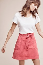 Anthropologie Pilcro Washed Chino Skirt Rose
