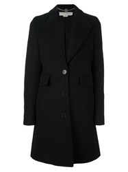 Stella Mccartney Classic Button Up Coat Black