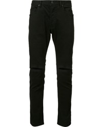 Daniel Patrick Ripped Knee Slim Fit Jeans Black