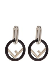Fendi F Is Fendi Hoop Earrings Black