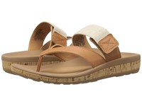 Rockport Weekend Casuals Keona Gore Thong Rich Tan Smooth Women's Sandals Beige