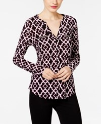 Inc International Concepts Printed Zipper Top Only At Macy's Morrocan Window