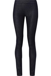 The Row Stratton Stretch Denim Leggings Black