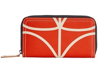 Orla Kiely Big Zip Wallet Vermillion Wallet Handbags Red