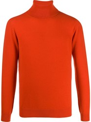 Laneus Rollneck Cashmere Sweater Orange