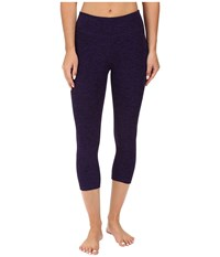 Beyond Yoga Capri Leggings Black Deep Iris Spacedye Women's Capri