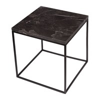 Stoned Black Marble Side Table