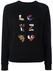 Tory Burch Embroidered Jumper Black