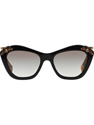 Miu Miu Embellished Frame Sunglasses Black