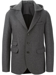Neil Barrett Hooded Blazer Grey