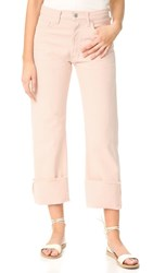 Citizens Of Humanity Parker Relaxed Cuffed Crop Jeans Rose Quartz