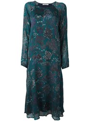 Mes Demoiselles Floral Print Midi Dress Green