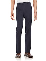 Lauren Ralph Lauren Regular Fit Wool Trousers Navy