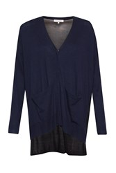 Great Plains Manor Mix Pocket Detail Cardigan Blue