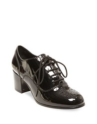 Design Lab Lord And Taylor Suzia Lace Up Round Toe Oxfords Black