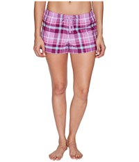 Life Is Good Classic Sleep Boxers Dusty Orchid Women's Shorts White