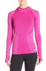 Women's New Balance 'Premium Made For Movement' Seamless Hoodie Azalea Heather