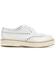 Church's Raffia Platform Brogues White