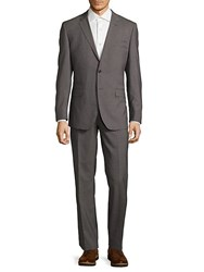English Laundry Modern Fit Textured Wool Suit Light Grey