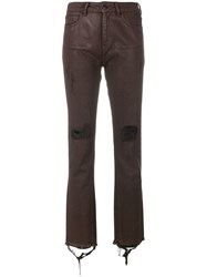 Marcelo Burlon County Of Milan Overdyed Distressed Skinny Jeans Cotton Polyester Red