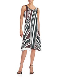 O'2nd Multi Stripe Shift Dress Multicolor