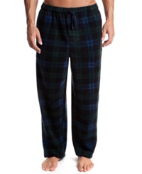 Perry Ellis Men's Plaid Fleece Pajama Pants Blackwatch