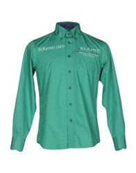 Harmont And Blaine Shirts Green