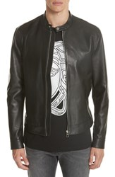 Versace Collection Moto Leather Jacket Black