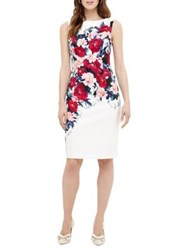 Phase Eight Azalia Cassia Floral Print Sheath Dress White Multi