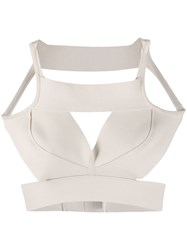 Rick Owens Structured Cut Out Tank Top Neutrals