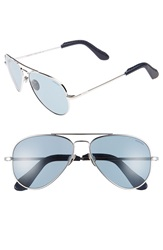 Randolph Engineering 'Concorde' 57Mm Aviator Sunglasses Platinum Blue Gray