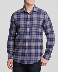 The Men's Store At Bloomingdale's Check Flannel Classic Fit Button Down Shirt Toasted Combo