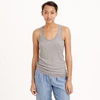 J.Crew Ribbed Racerback Tank Top In Stripe