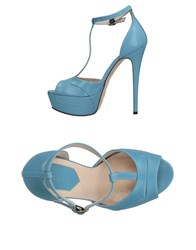 Elie Saab Sandals Sky Blue