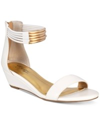 Thalia Sodi Leyna Wedge Sandals Only At Macy's Women's Shoes White