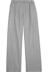 Carven Wool Wide Leg Pants Light Gray