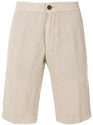 Z Zegna Chino Shorts Nude And Neutrals