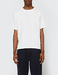 Our Legacy Weaved T Shirt White Linen