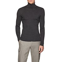 Ralph Lauren Purple Label Merino Wool Turtleneck Sweater Gray