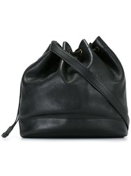 Hermes Vintage Drawstring Bucket Bag Black