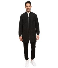 Kenneth Cole Longline Bomber Jacket Black Men's Coat