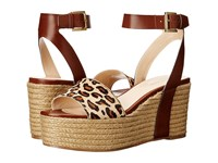Nine West Edoile Cognac Natural Multi Synthetic Women's Wedge Shoes Animal Print