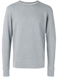 Officine Generale Crew Neck Sweatshirt Grey