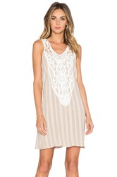 Liv Hailey Lace Bib Dress Beige