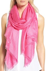 Nordstrom Women's Cashmere And Silk Wrap Pink Raspberry